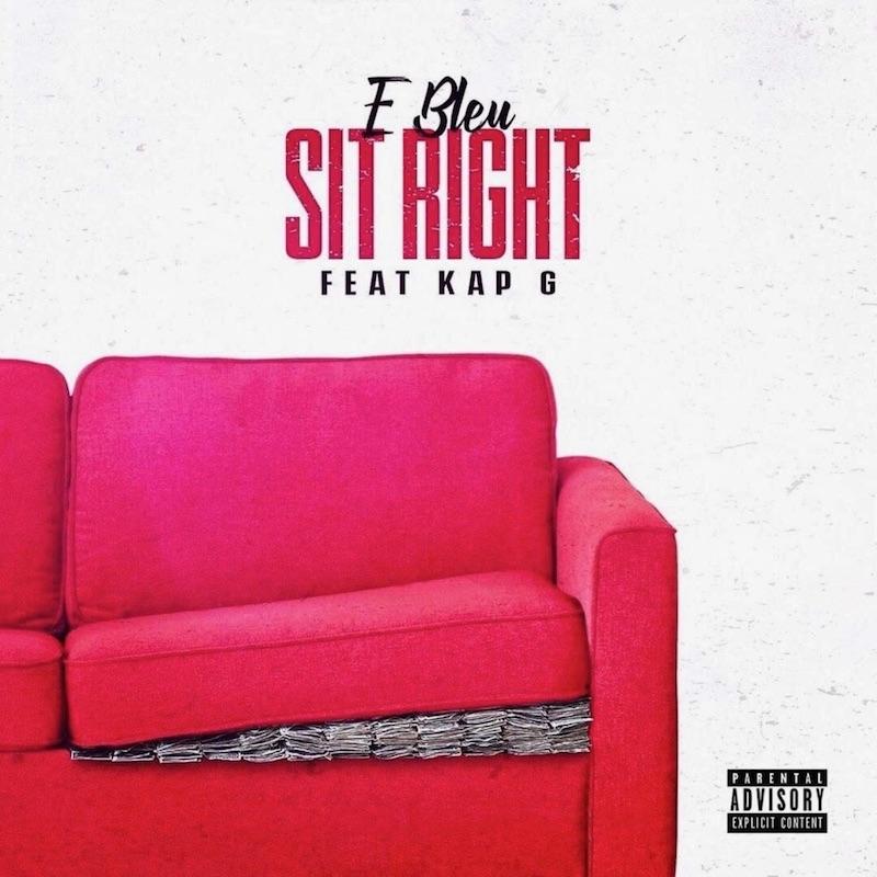 """E Bleu - """"Sit Right"""" cover"""