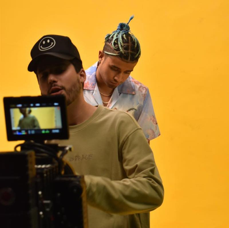 "E Bleu - ""Sit Right"" video with Kap G BTS"
