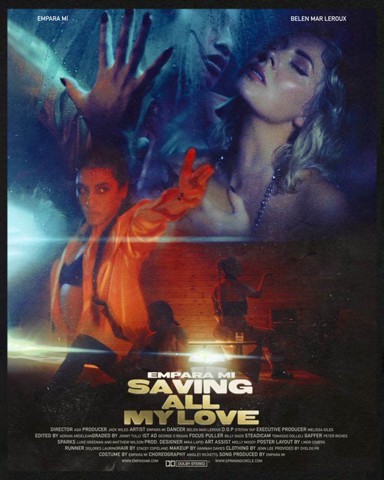 "Empara Mi - ""Saving All My Love"" poster"