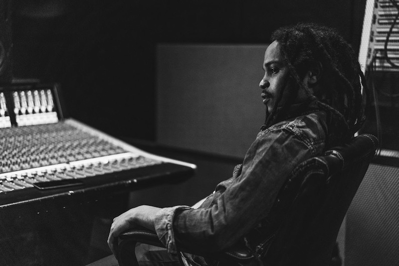Yohan Marley press photo in the studio