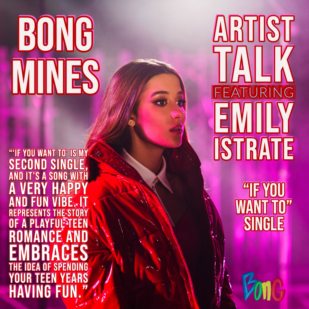 Emily Istrate Bong Mines Entertainment Artist Talk IG cover.