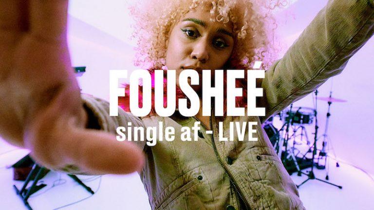 """Fousheé's """"single af"""" thumbnail via Vevo DSCVR."""