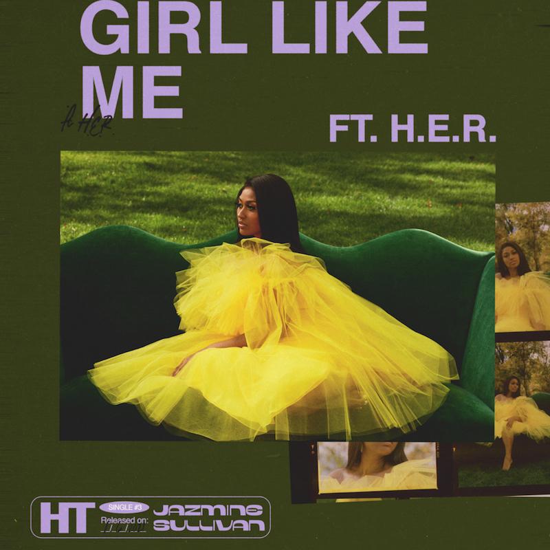 """Jazmine Sullivan's """"Girl Like Me"""" song cover art."""