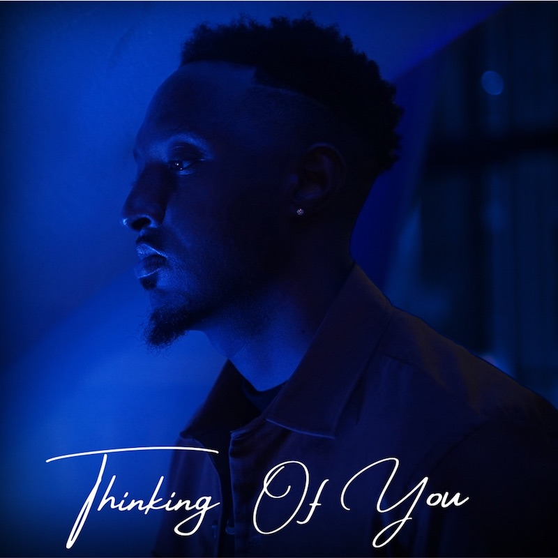 """Langston's """"Thinking of You"""" cover art."""