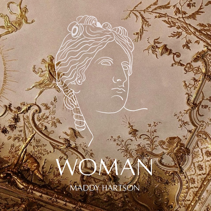 "Maddy Hartson's ""Woman"" song cover art."