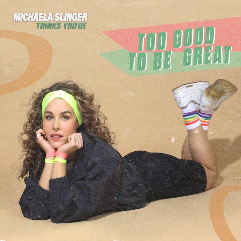 """Michaela Slinger's """"Too Good To Be Great"""" cover art."""