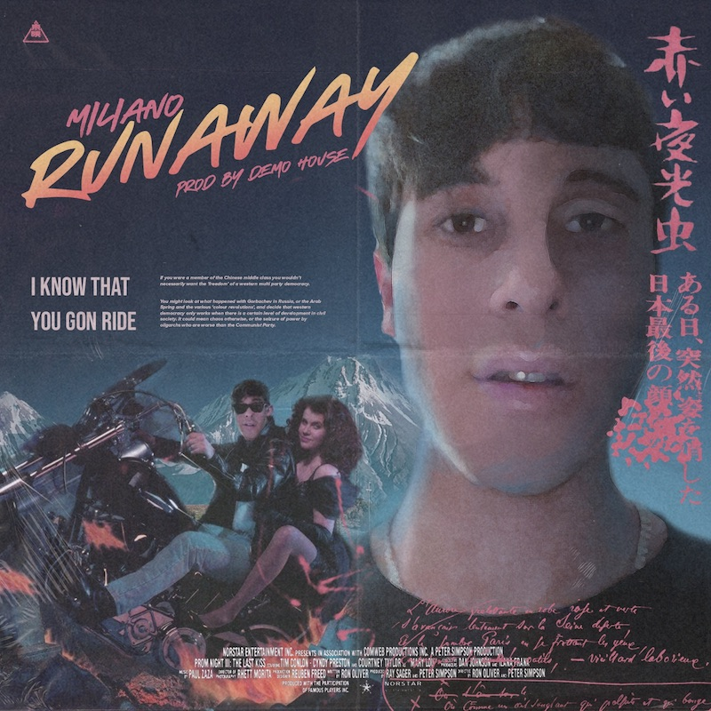 """Miliano's """"Runaway"""" song cover art."""