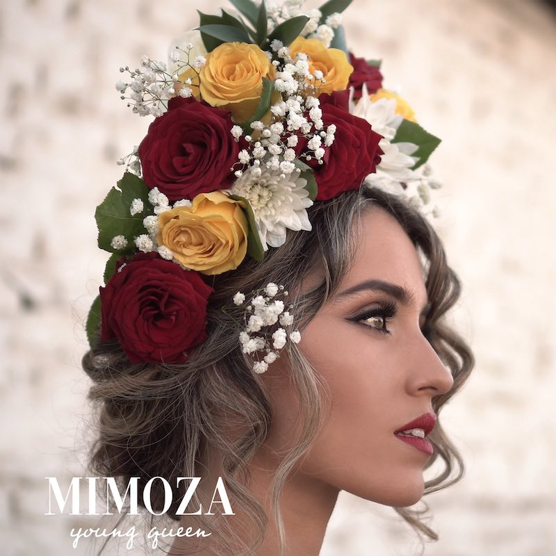 "Mimoza's ""Young Queen"" song cover art."