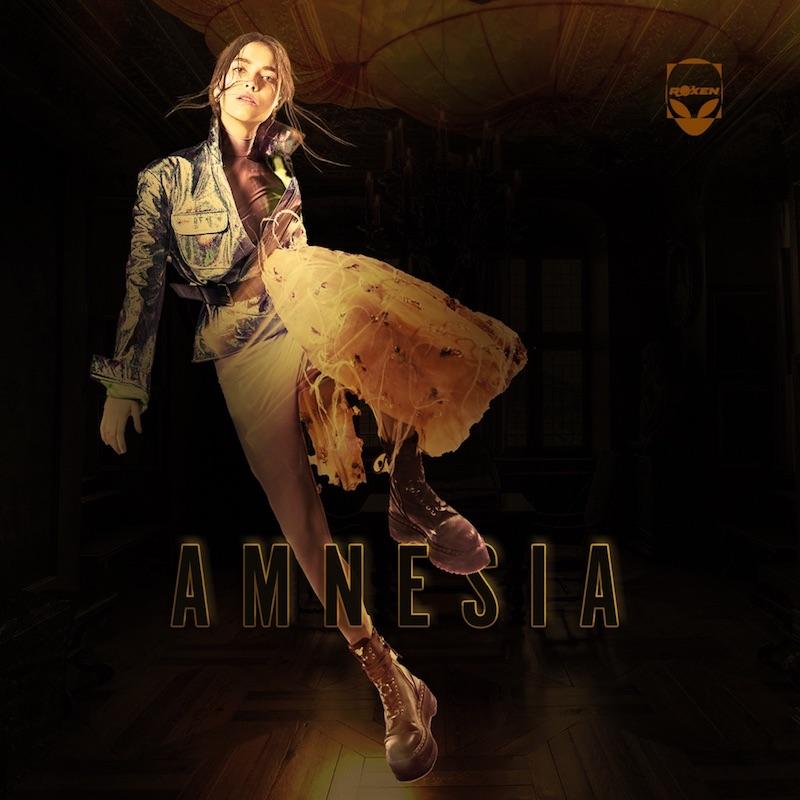 """Roxen's """"Amnesia"""" song cover art."""