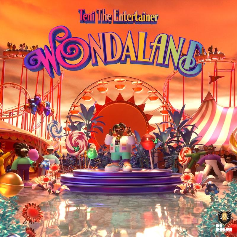 "Teni The Entertainer's ""WONDALAND"" cover art."