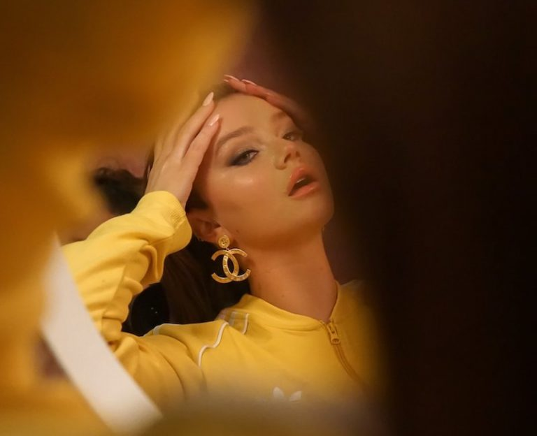 """Clodelle - """"Calm"""" press photo wearing a yellow outfit"""