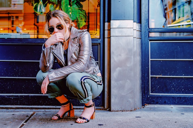 Kelsey Coleman press photo outside wearing with a stylish outfit