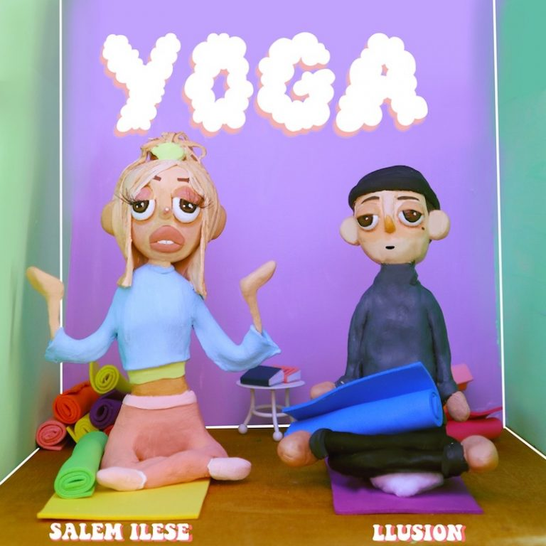 "LLusion & salem ilese - ""Yoga"" song cover art"