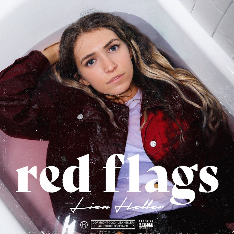 "Lisa Heller - ""Red Flags"" song cover art"