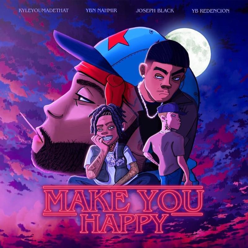"KyleYouMadeThat - ""Make You Happy"" song cover art"