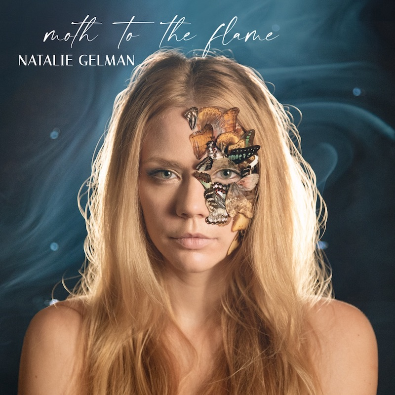 "Natalie Gelman - ""Moth To The Flame"" album cover art"