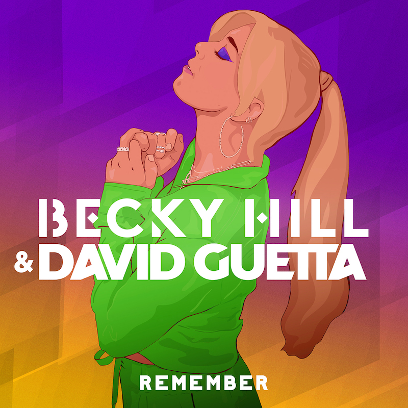 """Becky Hill and David Guetta - """"Remember"""" song cover art"""