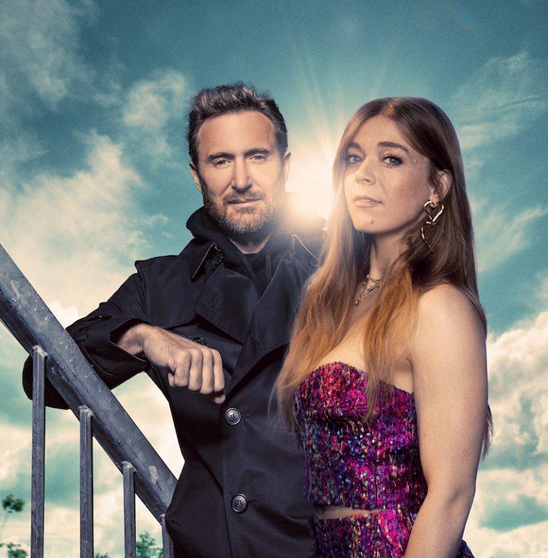 Becky Hill and David Guetta press photo