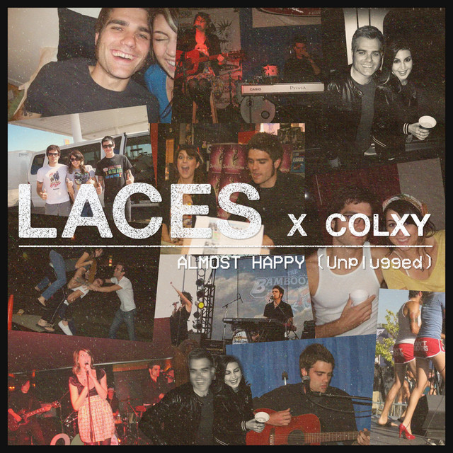 """LACES & Colxy - """"Almost Happy (Unplugged)"""" song cover art"""