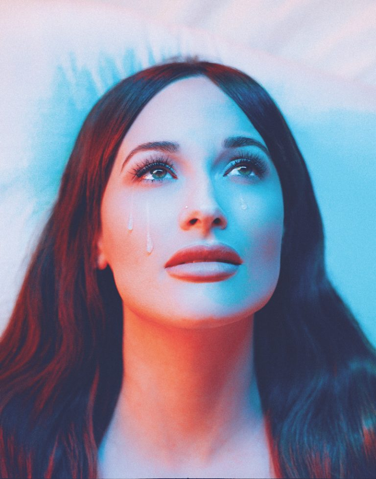Kacey Musgraves press photo with tears