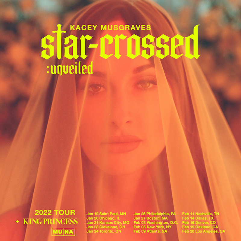 Kacey Musgraves star-crossed unveiled tour banner