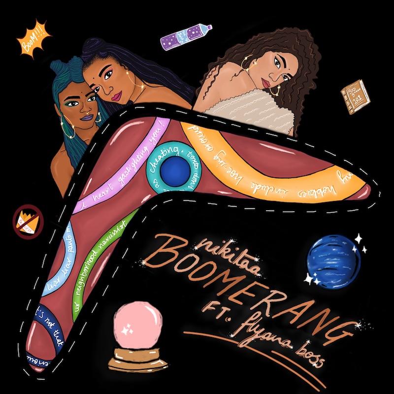 "Nikitaa - ""Boomerang"" single cover art"