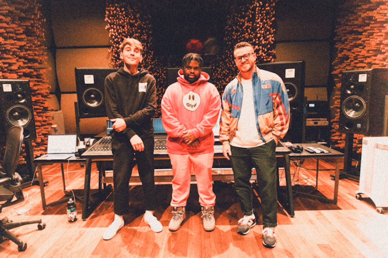 Yung Bae, Sam Fischer, and Pink Sweat$ photo in the studio