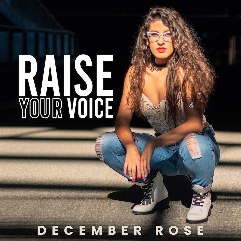 """December Rose - """"Raise Your Voice"""" album cover"""