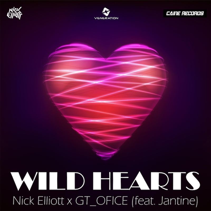 """GT_Ofice, Nick Elliott, and Jantine - """"Wild Hearts"""" song cover art"""