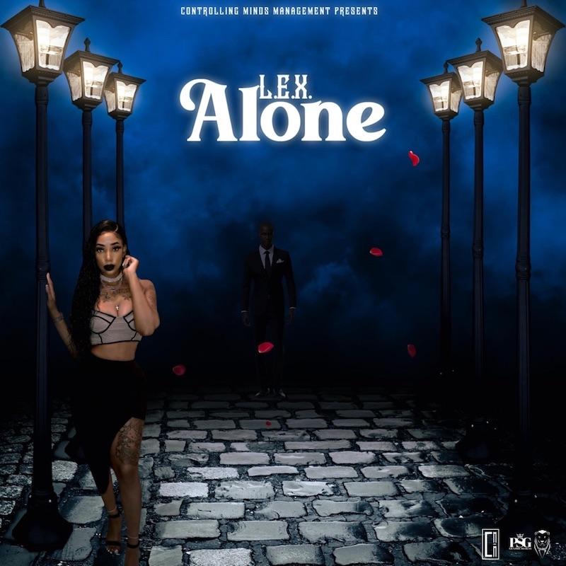 """L.E.X - """"Alone"""" song cover art"""
