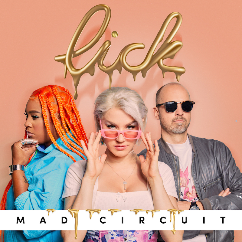 """Mad Circuit - """"Lick!"""" song cover art"""