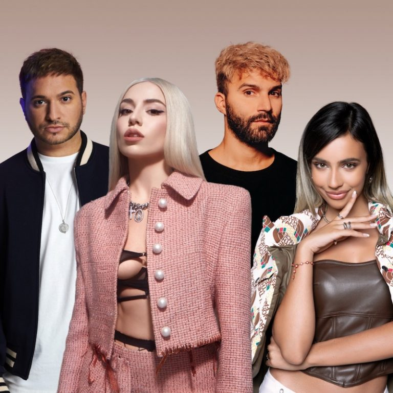 R3HAB, Jonas Blue, Ava Max, and Kylie Cantrall press photo