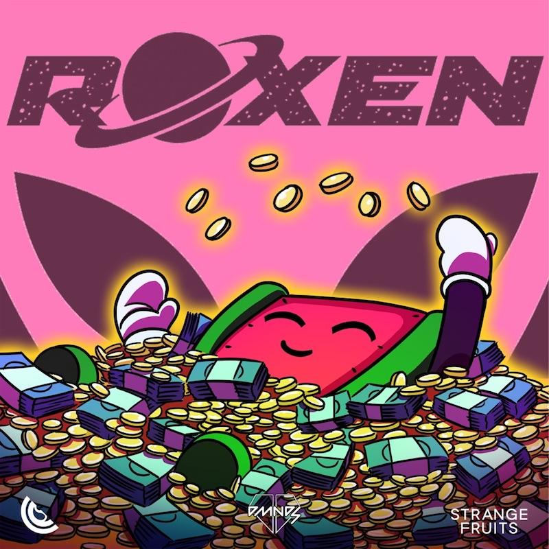 "Roxen, DMNDS, and Strange Fruits Music - ""Money Money"" song cover art"
