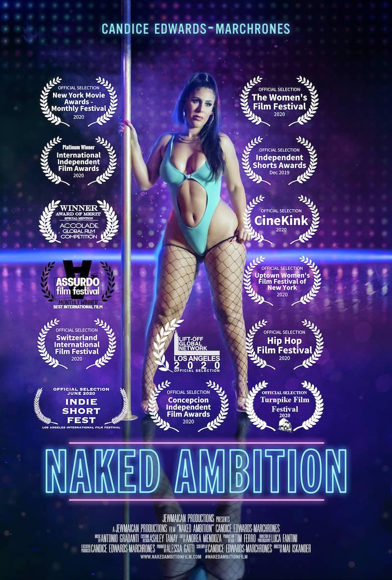 "Candice Edwards-Marchrones - ""Naked Ambition"" short film poster"