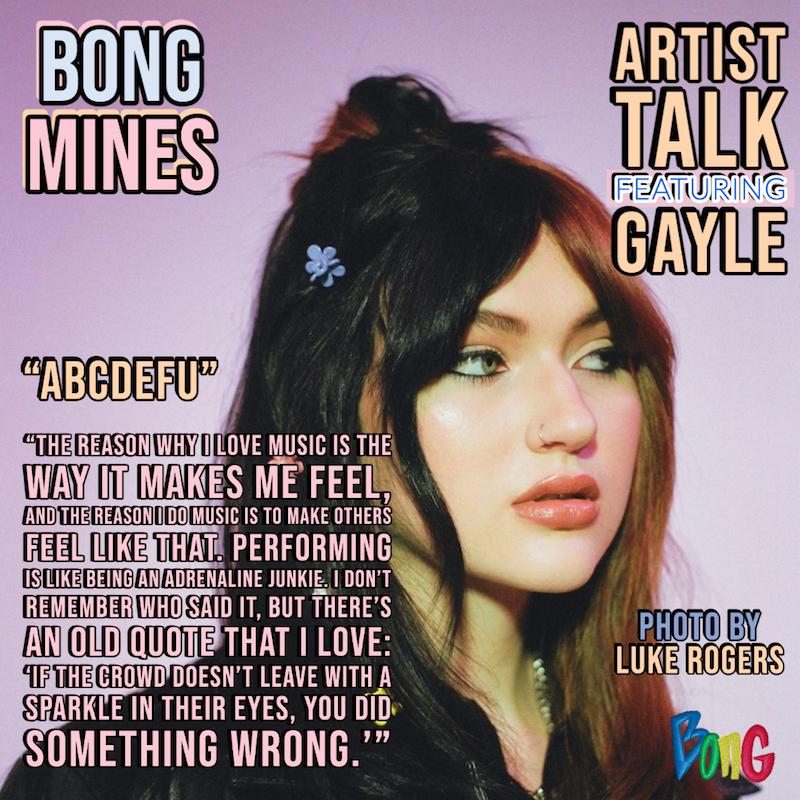 GAYLE Bong Mines Artist Talk cover